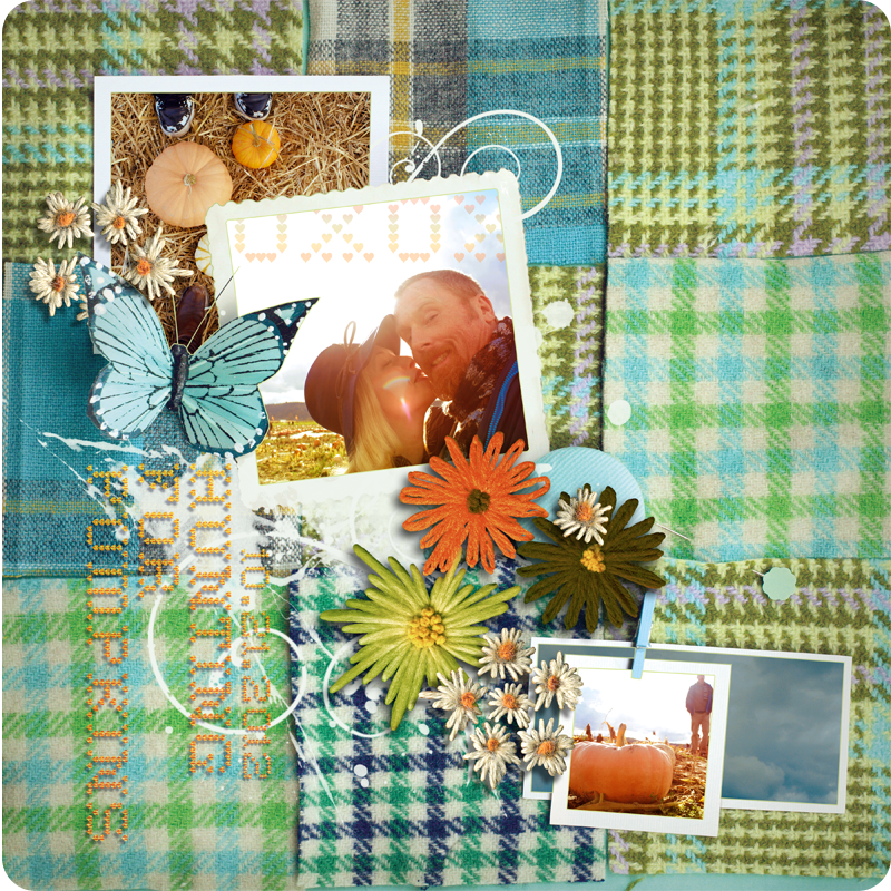 {digital layout} hunting for pumpkins