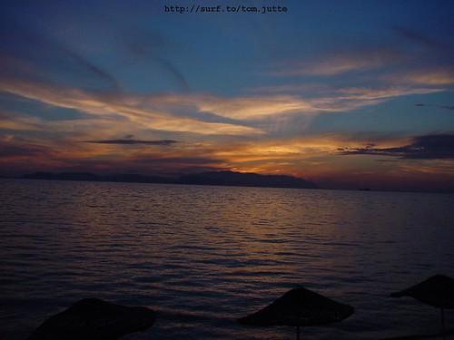 travel sunset sea summer sun holiday beach monument nature water turkey vakantie sony türkiye cybershot turkije izmir kusadasi webshots f505 celcuk