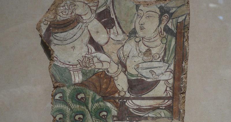 11 壁画净土图残片,新疆库车,唐8世纪半