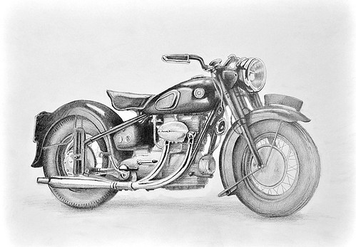Sunbeam S7 drawing by Colin Murdoch Studio