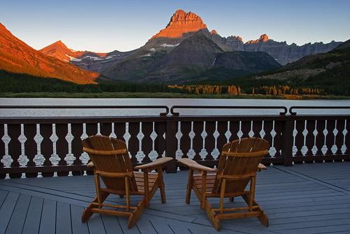 morning light lake mountains nature sunrise relax fun nikon montana shadows view chairs deck rockymountains glaciernationalpark 2012 gnp coth manyglacierhotel swiftcurrentlake supershot mtwilbur absolutelystunningscapes d7000 damniwishidtakenthat coth5