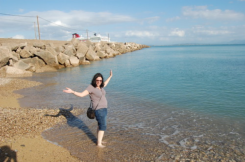 Hooray! The sea!