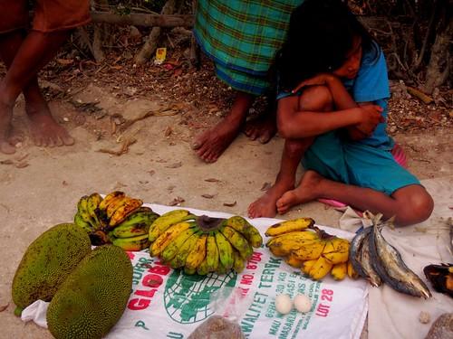 girl fruit island child market easttimor atauroisland timorleste