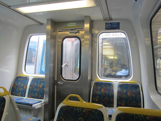 Comeng train interior