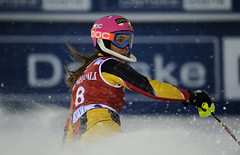 Marie-Michèle Gagnon during the Levi, Finland, World Cup slalom.