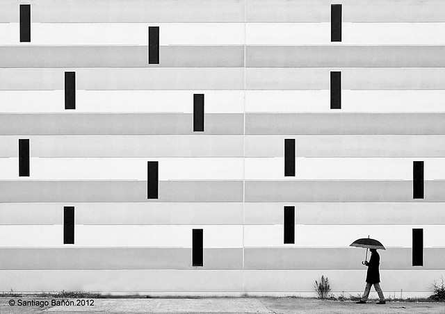 Heavy rain - Fantastic Black and White Street Photographs