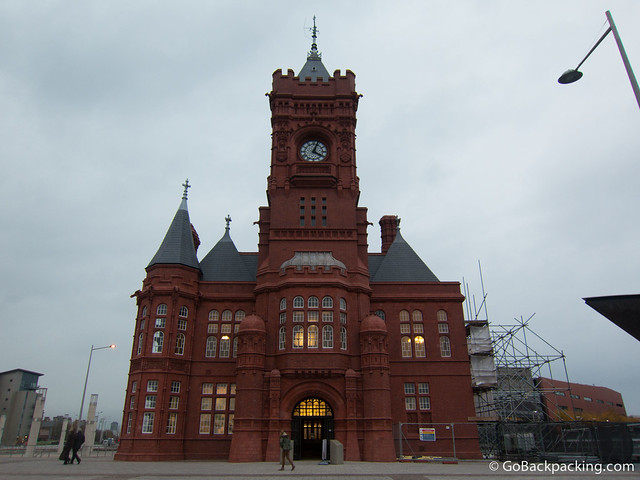 The Welsh Big Ben at the Cardiff Bay Waterfront