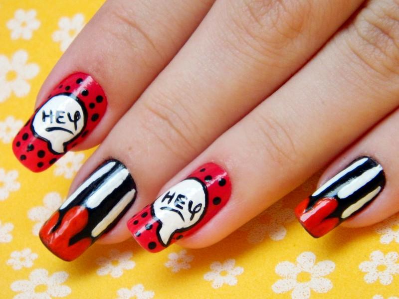 unhas decoradas juliana leite nail art mickey disney divertida 018