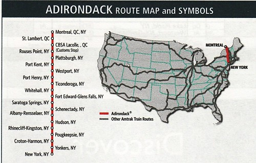 Amtrak Adirondack 2010 Map