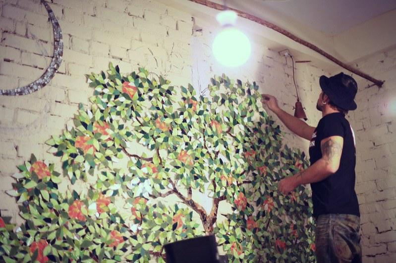 Мозаика на стенах своими руками фото