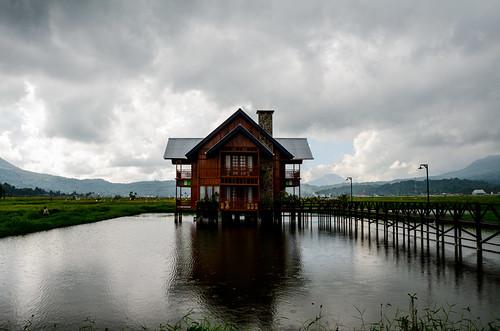 house indonesia raw northsulawesi raining manado rumah paddyfield sawah hujan tomohon tondanolake danautondano nikond7000 yemaria
