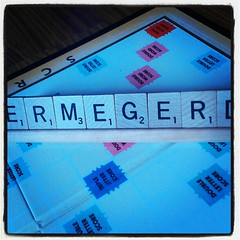 Ermegerd, Screbble! #ermegerd #scrabble #game #sickday #sickkid