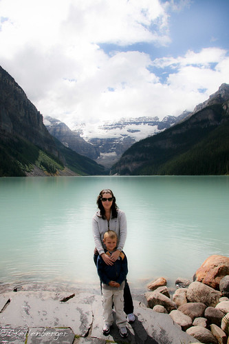 Carrie and Caleb at Lake Louise