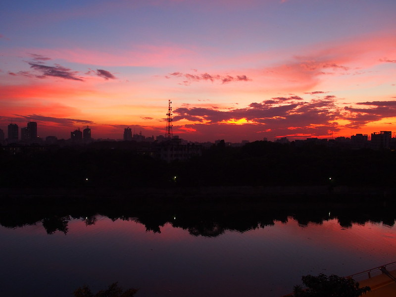 Sunset in Dhaka