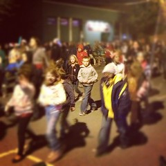 The kids walking in the #citylights #parade. #downtown #wichitafalls #wftx