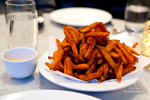 Sweet potato fries with harissa mayonnaise