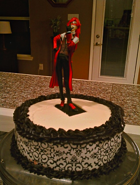 Black Butler birthday cake - Grell topper | Flickr - Photo ...