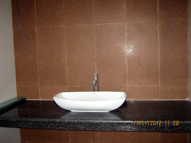 Wash Basin with Counter in the show flat -  Siddhashila Eira, 2 BHK & 3 BHK Flats in 16 Story 2 Towers with Amenities & Parking on & under the Podium at Koyate Vasti, Punawale, PCMC, Pune 411033