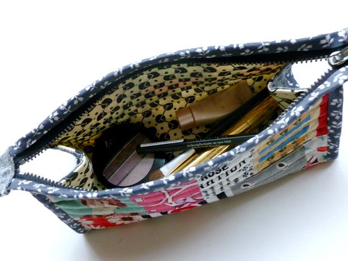 make up pouch - inside
