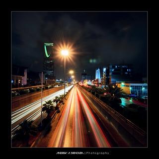 King Fahd Road after Rain [Vertorama]