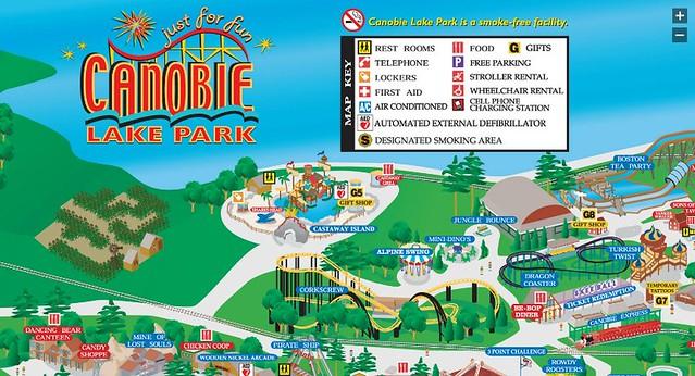 Canobie Lake Park Map 2014 22209 | ENEWS on