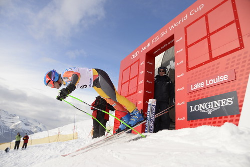 Jan Hudec during the first downhill training run in Lake Louise (Nov. 2012)