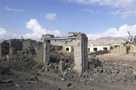 Damage done by roadside bombs planted at the aegis of resistance fighters in Afghanistan whose country has been occupied by the US and NATO since 2001. This incident occured in Wardak Province. by Pan-African News Wire File Photos