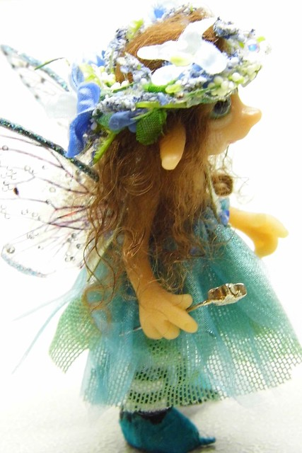 Ooak handmade polymer clay tiny fairy fairie quot elysia quot flickr photo