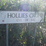 Hollies Croft, Edgbaston - road sign