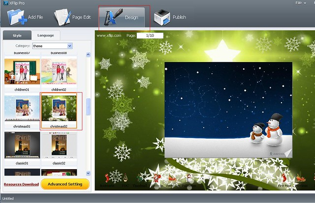 set-christmas-background-theme