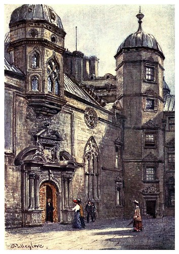 010-Hospital George Heriots-Edinburgh, painted by John Fulleylove- 1904