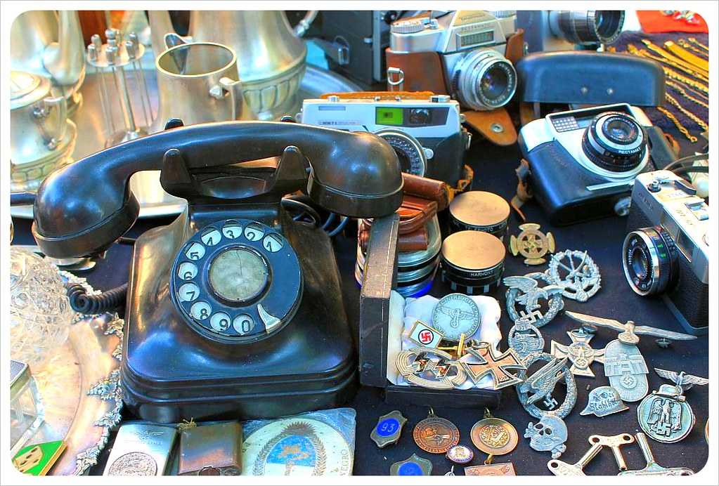 san telmo sunday market antique telephone
