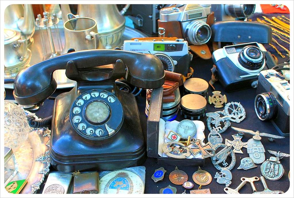 san telmo sunday market antique telephone