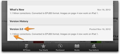 iBooks Versioning info