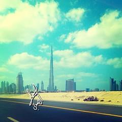 My Lovely City ❤#dubai #skyscraper #buildings #instauae #instadubai #instamood #instagram #instagramers #dxb #uae #sky #blue #clouds #road #dxb