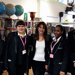 Hornsey Girls School students with Lynne Featherstone on their