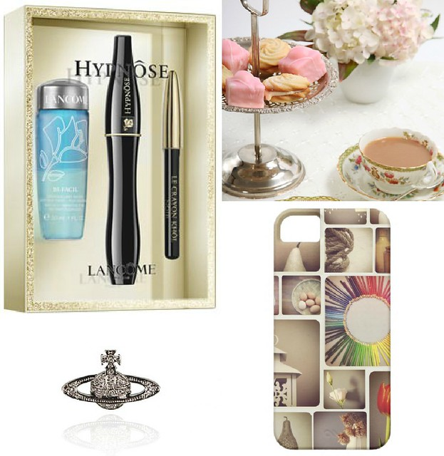 lacome gift, vivienne westwood brooch, iphone case, afternoon tea, gift guide for women