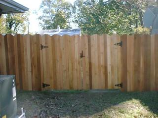 Dog Ear 3 Board Cedar Fence