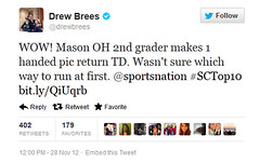 Drew Brees tweet