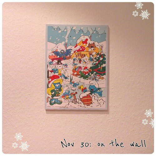 Nov 30: on the wall - my #advent #calendar #fmsphotoaday