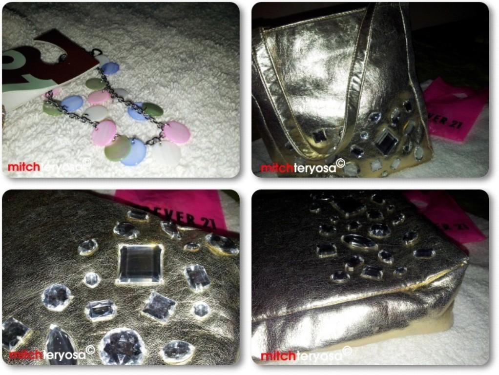 Forever 21 bracelet and bag