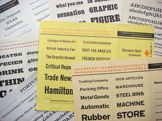 Assorted type specimen brochures