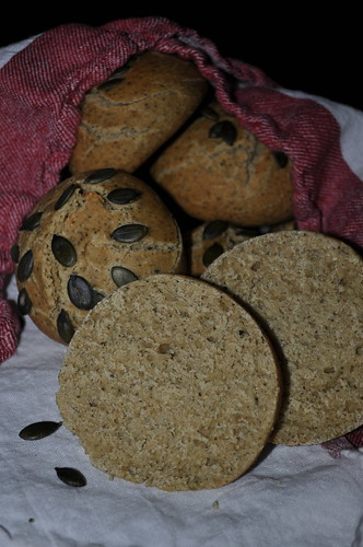 Bread Baking Day #54 - Overnight Pumpkin Seed Rolls