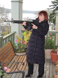 Gaye with our AR15_1