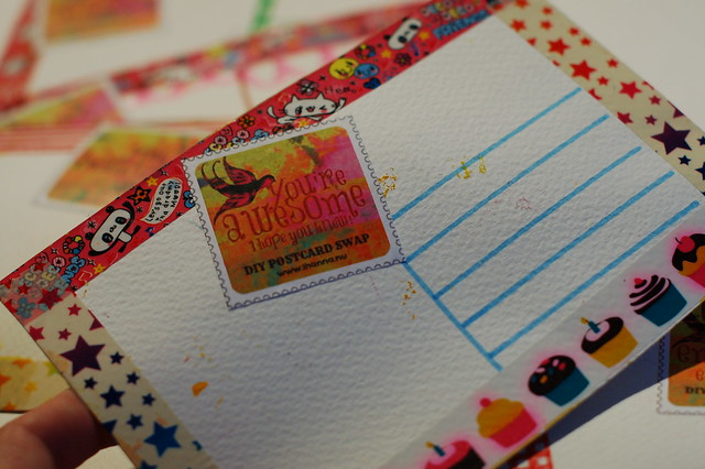 Backside is decorated too by @iHanna - made for the #Diypostcardswap