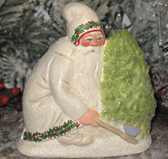 German chalkware Belsnickle Santa