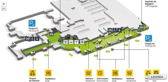 mapa aeroporto lisboa Como é o Aeroporto de Lisboa   Serviços e Transportes mapa aeroporto lisboa