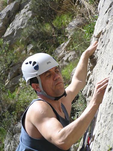 Simon concentrating hard at Sella