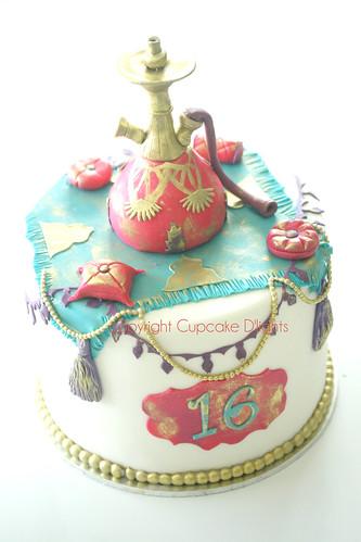arabian hookah cake by {zalita}