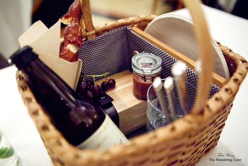 Inside the picnic basket